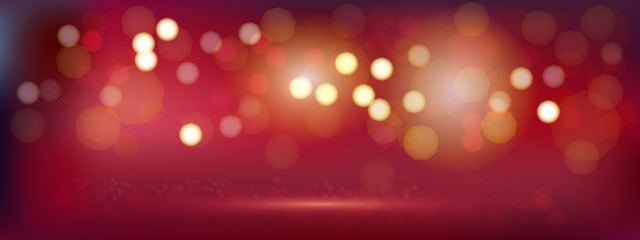 A luxury red bokeh vector image for Abstract background.