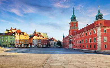 Obraz Panorama warszawskiego starego miasta, Polska - fototapety do salonu