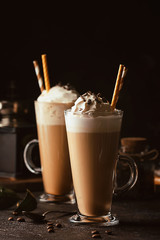 Spoed Foto op Canvas Milkshake Cold coffee drink