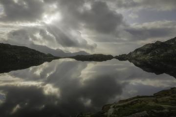 Lago Nero lake, Rendena vallley, dolomites, Trentino Alto Adige, Italy