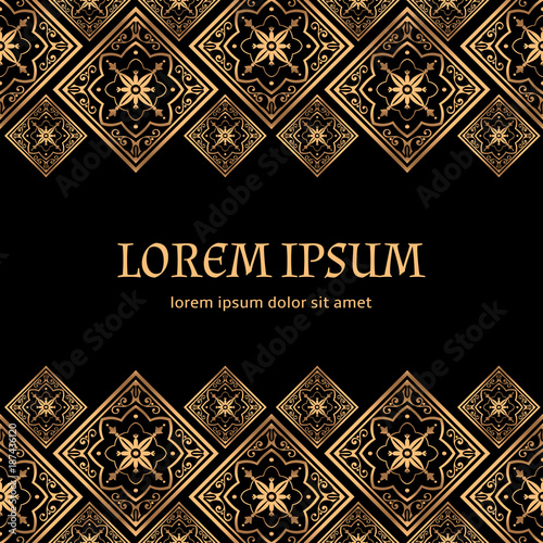 luxury background vector golden royal pattern vintage design for beauty spa wedding ceremony