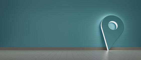 Pin holder illuminated symbol hold against a wall