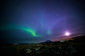Moonshine and the northern lights