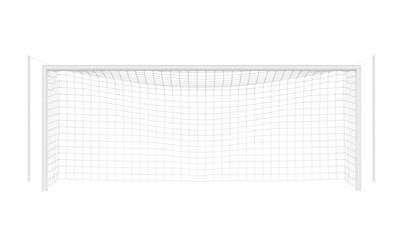 Soccer Goal Post Isolated