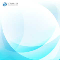 Abstract light blue curve overlap background.