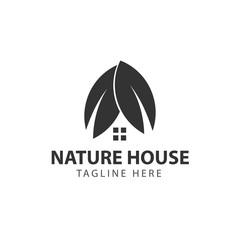 Nature House Logo Vector Template Design