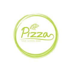 green pizza logo design