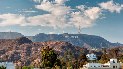 Spoed Fotobehang Los Angeles Hollywood Hills in Los Angeles, California.