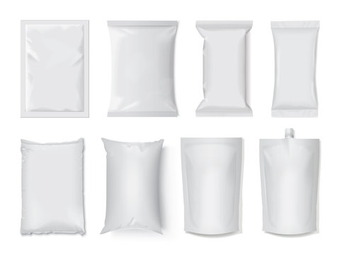 plastic and paper packaging mock up
