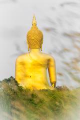 Big gold buddha at Aang-thong province, Thailand