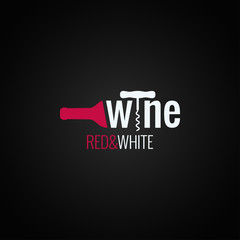 wine bottle logo on black background