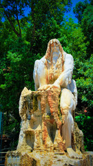 Guardian of Time statue at Jeita Grotto, Lebanon