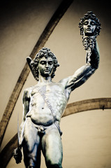 the god Nile is a marble sculpture, Naples. Italy