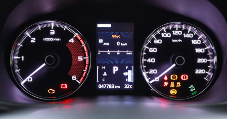 Automotive car engine speed, display, technology