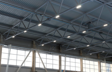 modern ceiling sports hall with ventilation system