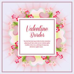 soft pink valentine square border