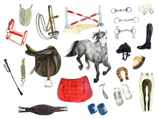 horseback riding set