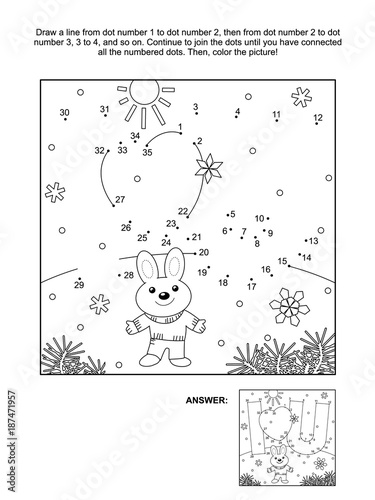 Valentine S Day Themed Connect The Dots Picture Puzzle And Coloring