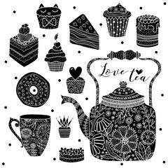 Happy tea. Black set.