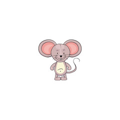 Mouse cartoon icon