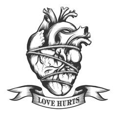 Tied Human Heart
