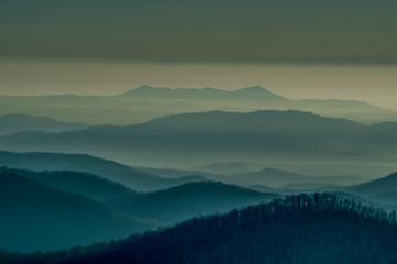 Blue Ridge Parkway at Sunrise, Asheville, C
