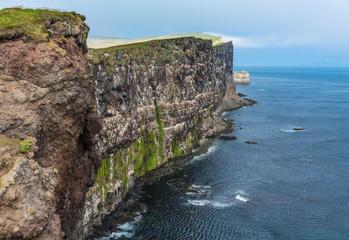 Stunning Latrabjarg bird cliffs,, Western Fjords, Iceland