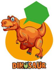 Sticker design with tyrannosaurus rex