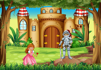 Scene with princess and knight