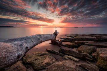 Sea sunrise / Magnificent sunrise view at the Black sea coast