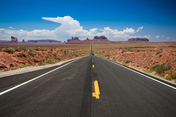 Road on the american desert