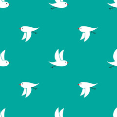 Background of birds flying in different directions