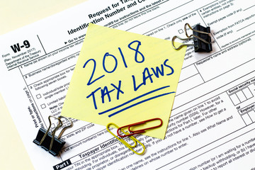 W9 2018 Tax Laws Concept