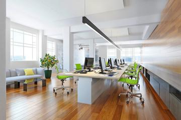 Modern computer office interior