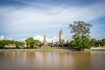 Wat Phutthaisawan by the river. One of many temple ruins in the UNESCO World Heritage city of Ayutthaya, Thailand