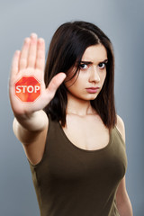 Stop domestic abuse concept
