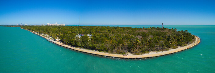 Aerial image Cape Florida Bill Baggs State Park