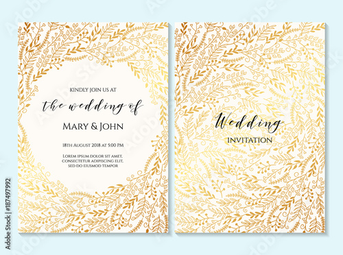 Wedding Invitation Thank You Card Save The Date Baby