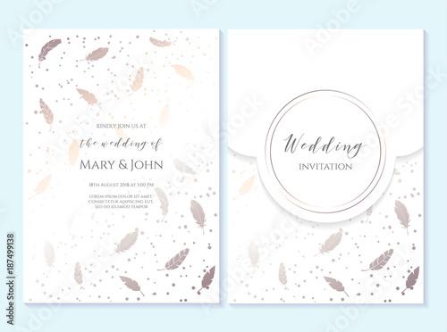 Wedding invitation, thank you card, save the date card. Wedding ...