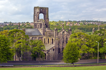 Kirkstall Abbey in Leeds, Yorkshire, England, UK