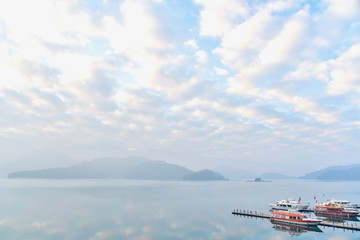 View of Sun Moon Lake in the Morning