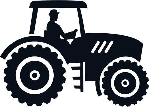 Farmer tractor female black