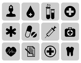 Medical icons set. First aid symbol. Vector illustration EPS 10