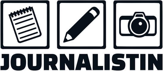 Journalist job icons german