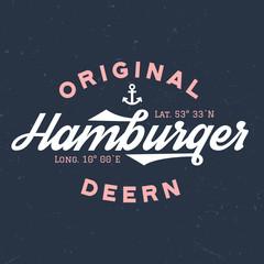 Original Hamburger Deern - T-Shirt Design Zum Bedrucken