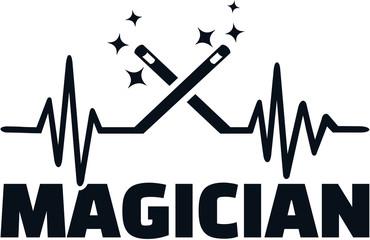 Magician heartbeat line job title