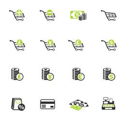 e-commerce color icon set
