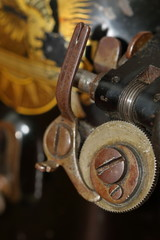 Details of old Singer sewing machine