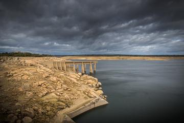 Pantano de Almendra , embalses de agua Salamanca España