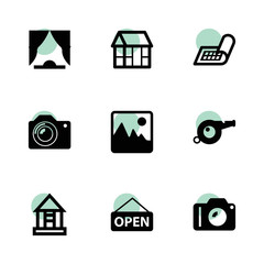 Frame icons. vector collection filled frame icons set.
